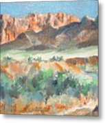 Virgin River Gorge Metal Print