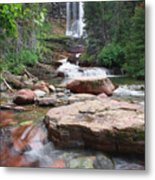 Virginia Falls - Glacier N.p. Metal Print