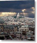 Vue De La Butte Montmartre.roofs Of Paris Metal Print