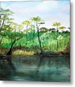 Waccamaw River - Impressionist Metal Print