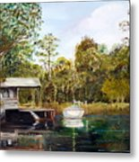 Waccamaw River Sloop Metal Print by Phil Burton