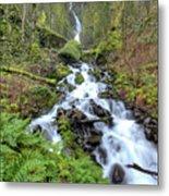 Wahkeena Falls Oregon Waterfall Metal Print by Dustin K Ryan