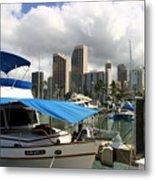 Waikiki Port Metal Print
