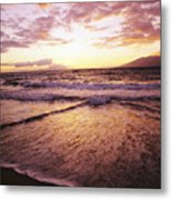 Wailea Beach At Sunset Metal Print