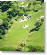 Wailea Gold And Emerald Courses Metal Print