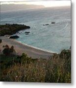 Waimea Bay And Kaiena Point Metal Print