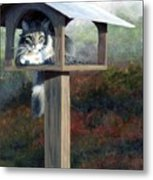 Waiting For Dinner Metal Print by Pat Burns