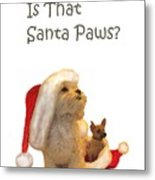 Waiting For Santa Paws Metal Print by Joni McPherson
