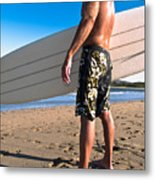 Waiting For The Surf Metal Print by Jim DeLillo