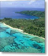 Wakaya Island Aerial Metal Print