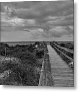 Walk To The Beach Alantic Beaches Nc Metal Print