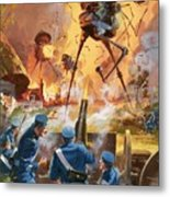 War Of The Worlds Metal Print by Barrie Linklater