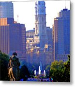 Washington Looking Over To City Hall Metal Print