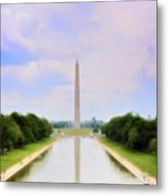 Washington Monument And Reflecting Pool Metal Print