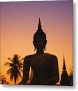 Wat Mahathat Metal Print