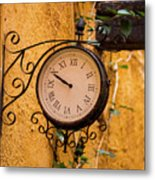 Watching The Time Metal Print