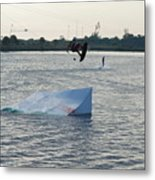 Water Boarding Metal Print