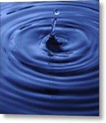 Water Drop Tempest Metal Print