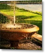 Water Fountain Garden Metal Print