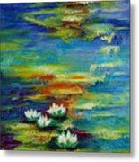 Water Lilies No 3. Metal Print