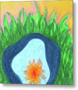 Water Lily In A Pond Metal Print