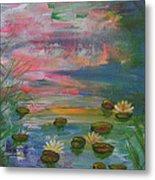 Water Lily Pond 2 Metal Print