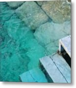Water Steps Metal Print