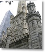 Water Tower And Sears Tower Metal Print