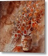 Watercolor Autumn Bunch Metal Print