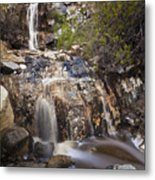 Waterfall At La Jolla Canyon Metal Print
