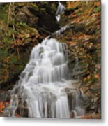 Waterfall In Smugglers Notch Metal Print