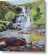 Waterfall On Skye 2 Metal Print