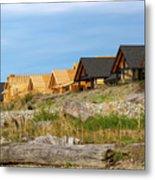 Waterfront Condominiums On The Beach Of Semiahmoo Bay Metal Print