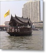 Waterfront Restaurant Metal Print