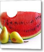 Watermelon And Pears Metal Print
