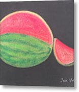 Watermelon Metal Print by M Valeriano
