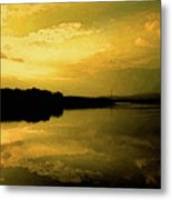Watery Color Sunset Metal Print