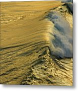 Wave Rolling Gold Metal Print