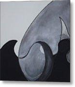 Wave Round Metal Print by Carol Reed