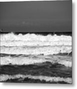 Waves 1 In Bw Metal Print