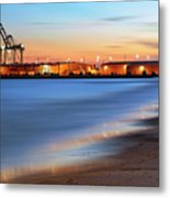 Waves Of Industry - Gulfport Mississippi - Sunset Metal Print
