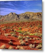 Waves Of The Desert Sea Metal Print