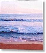 Waves On The Beach 2 Aedb Metal Print