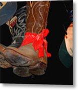 Waylon Jennings Boots Metal Print