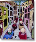 We Race Unaware Toward The End Of Days Metal Print