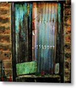 Weatherd Entry Metal Print