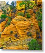 Weathered Rock Metal Print