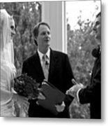 Wedding Couple Example Metal Print