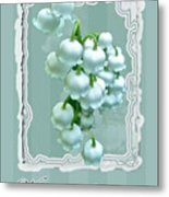 Wedding Happiness Greeting Card - Lily Of The Valley Flowers Metal Print