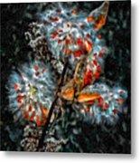 Weed Galaxy Painted Version  Metal Print